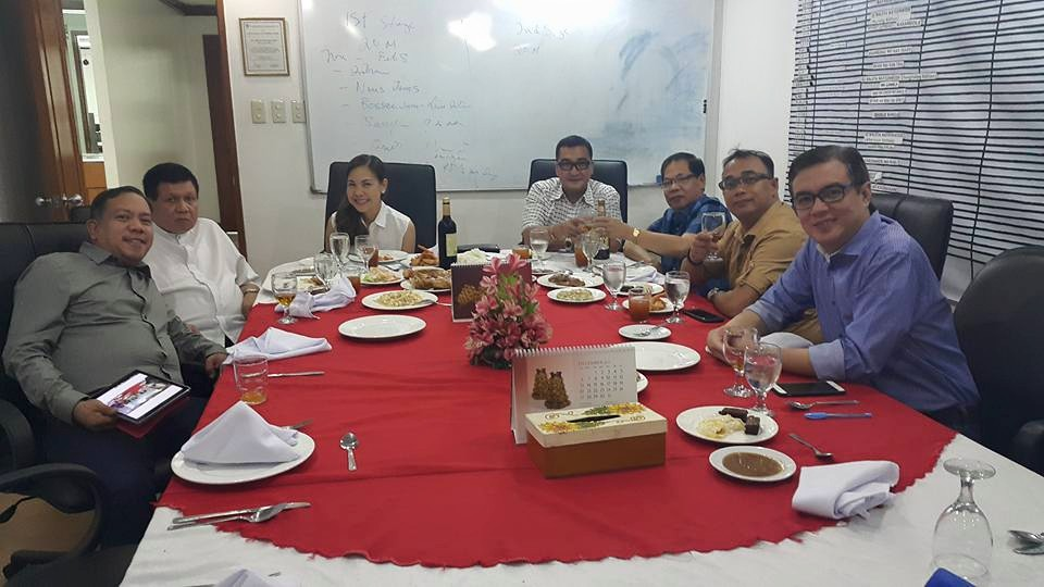Christmas dinner with Fr. Bong Cabrera and Aliw Broadcasting Corporation officers