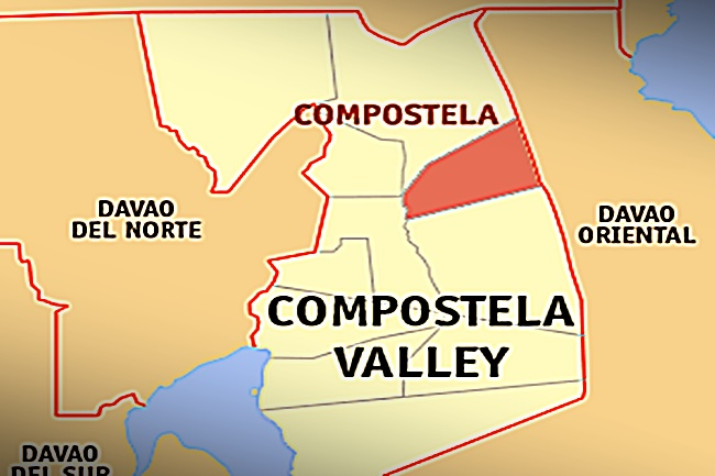 COMPOSTELA VALLEY MAP