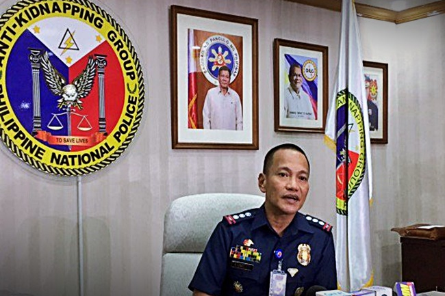 PNP anti-kidnapping group chief senior supt. Glenn Dumlao