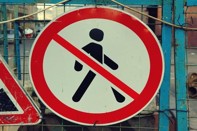 no jaywalking