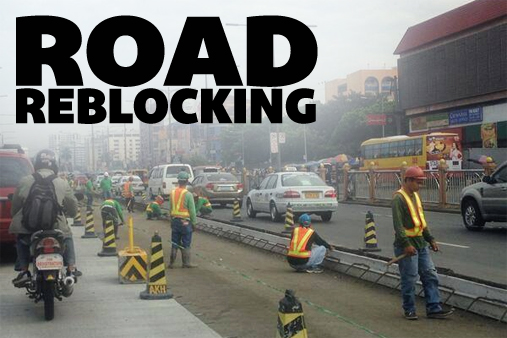 road-reblocking