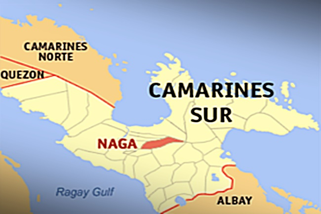 NAGA CITY CAM SUR MAP