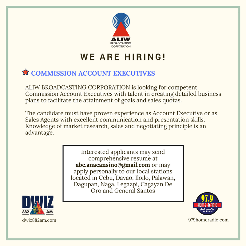 we ARE HIRING 1 -- JULY 26, 2017