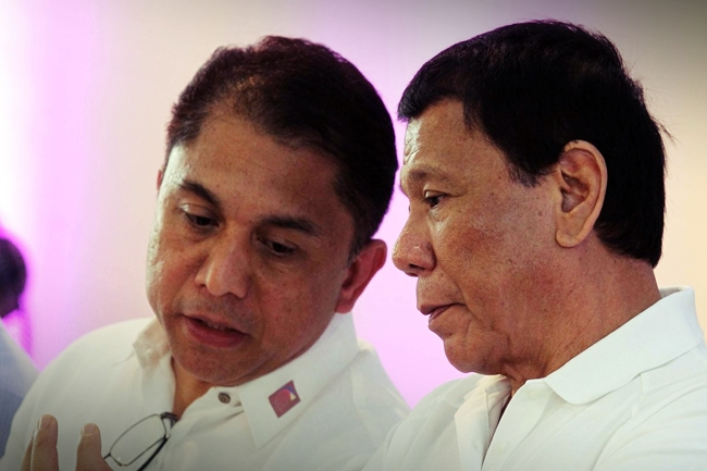 NHA General Manager Marcelino Escalada Jr. and duterte