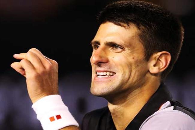 World No. 2 Novak Djokovic