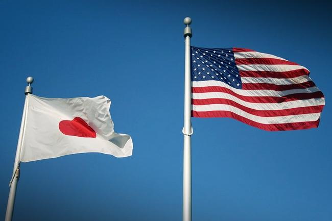 japan and usa flag