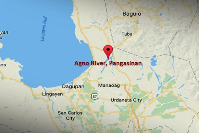 Agno River sa Pangasinan map