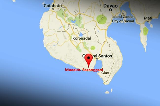 Maasim, Saranggani map