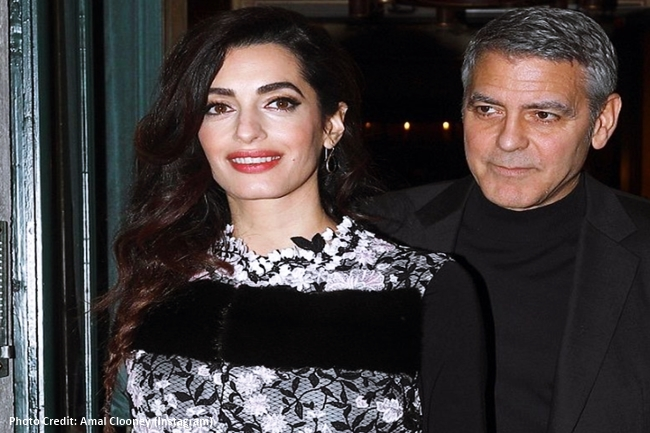 GEORGE AND AMAL CLOONEY 1