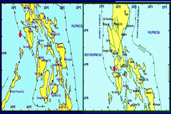 mindoro and batangas quake