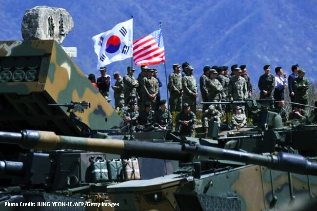 Amerika and South Korea joint military exercise 2017