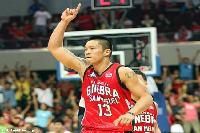 Barangay Ginebra star player Jayjay Helterbrand