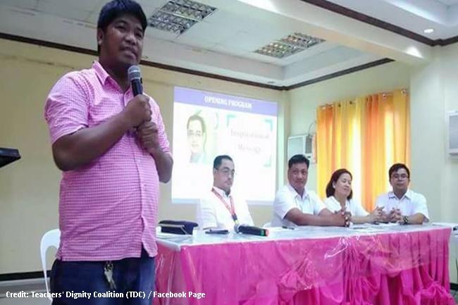 Benjo Basas, chairperson ng TDC o Teachers' Dignity Coalition