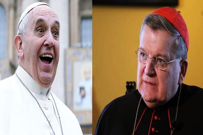 POPE FRANCIS AND Cardinal Raymond Burke