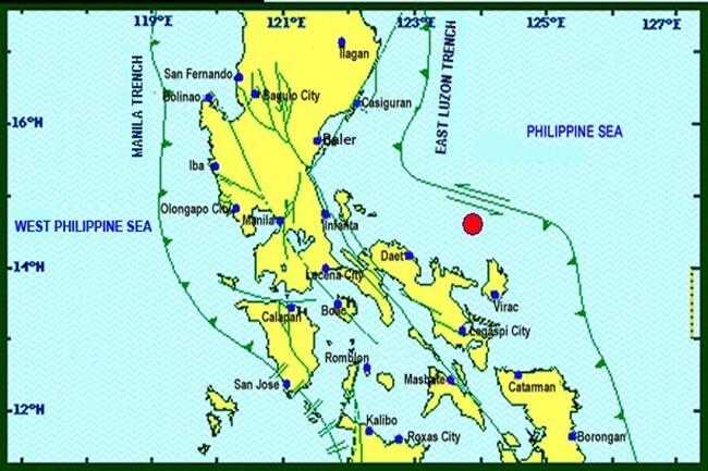 magnitude 4.1 sa lalawigan ng Catanduanes