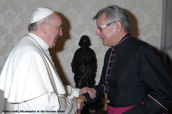 Bishop Erwin Krautler and pope francis