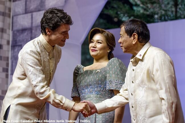 Canadian Prime Minister Justin Trudeau and President Duterte
