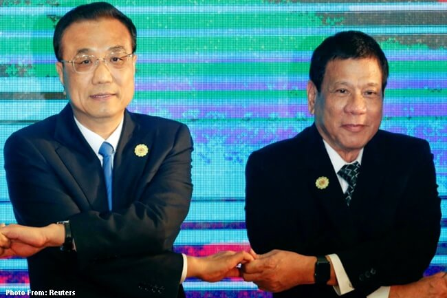 Chinese Premier Li Keqiang and President Duterte
