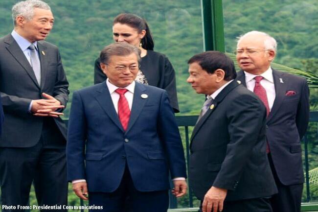Pangulong Duterte at South Korean President Moon Jae-in