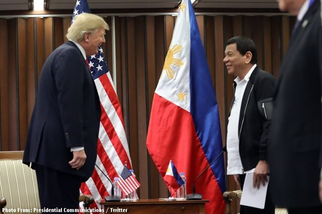 US PRESIDENT TRUMP AND PH PRESIDENT DUTERTE
