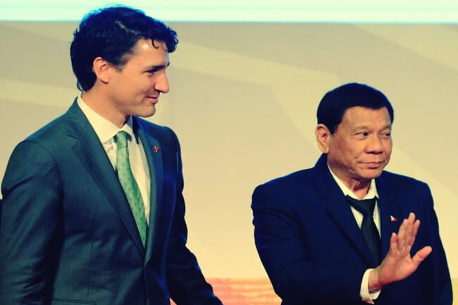 trudeau and duterte