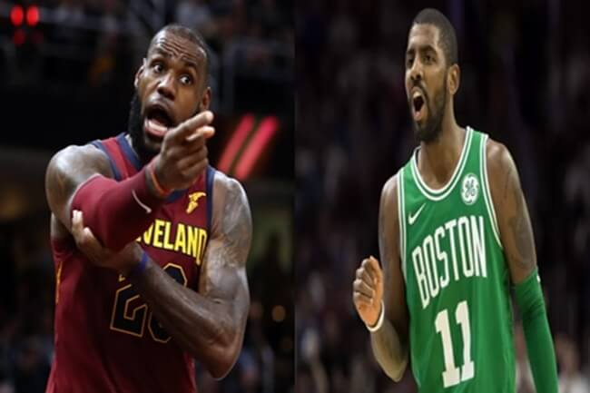 LEBRON AND IRVING CAVS AND CELTICS