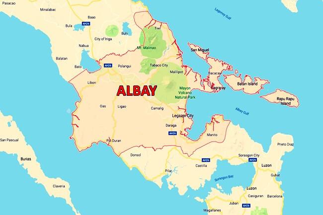 ALBAY MAP
