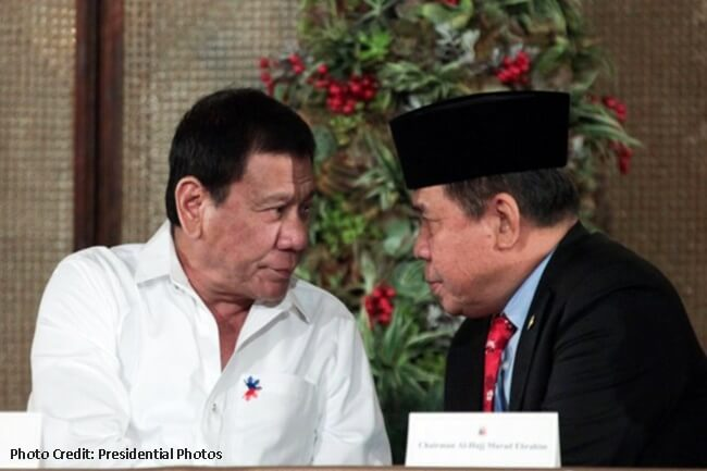 MORO ISLAMIC LIBERATION FRONT (MILF) CHAIRMAN AL HAJ MURAD EBRAHIM AND PDUTERTE
