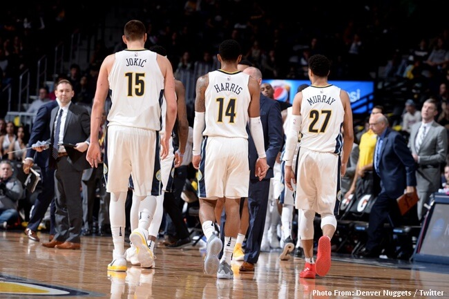 DENVER NUGGETS HARRIS MURAY JOKIC
