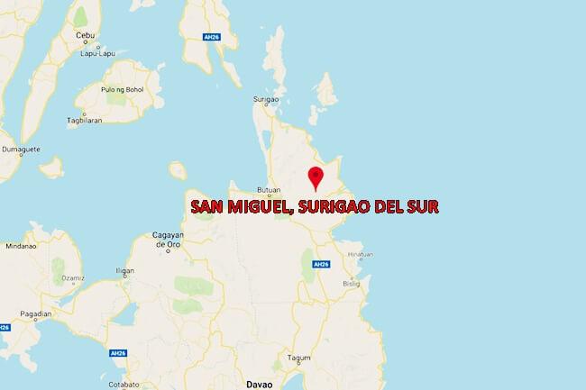SAN MIGUEL, SURIGAO DEL SUR MAP