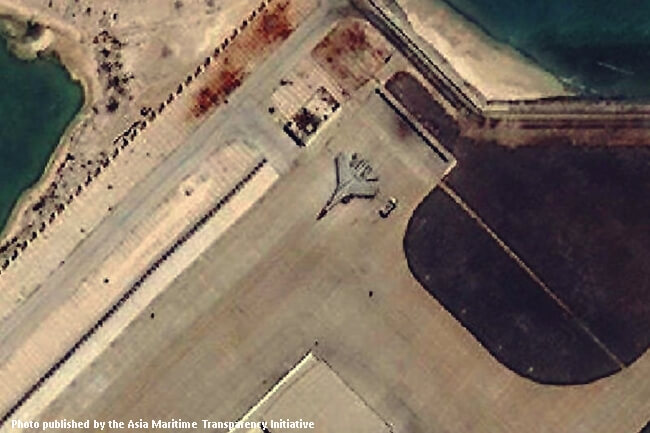 CHINESE MILITARY AIRCRAFT IN SPRATLYS