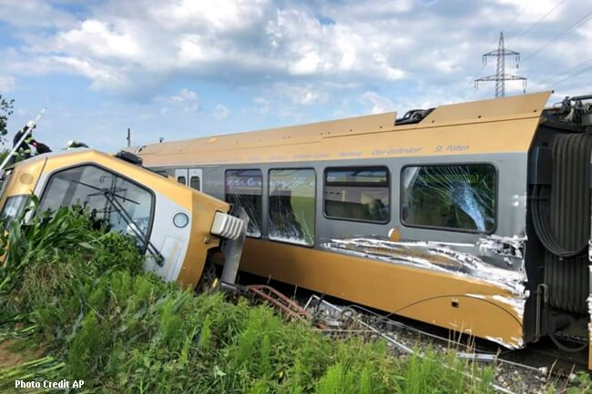 AUSTRIA TRAIN DERAIL