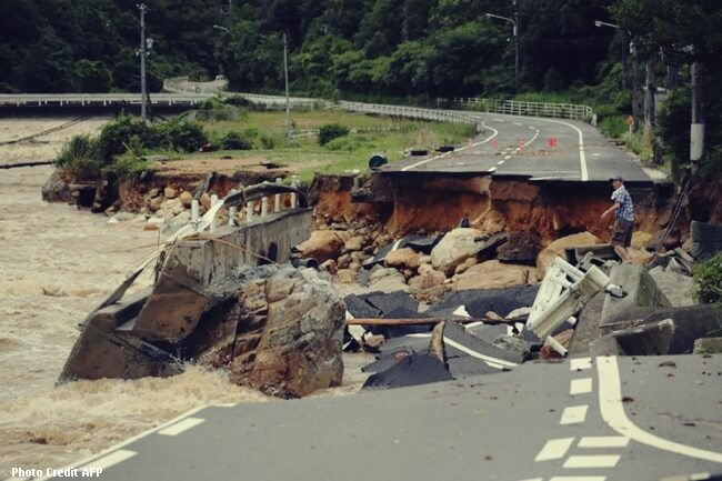 JAPAN FLASHFLOOD AFP