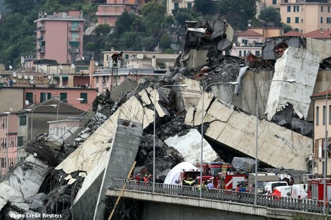 ITALY BRIDGE (REUTERS)
