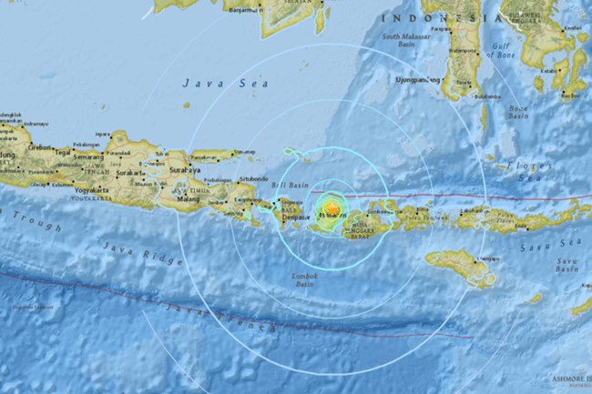 LOMBOK INDONESIA QUAKE