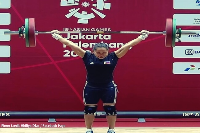 hidilyn diaz 2018 asian games
