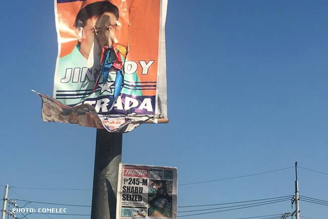 illegal campaign posters