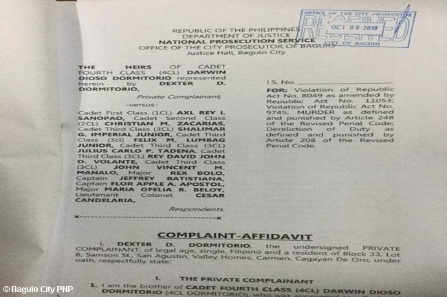 JAYMARK- DORMITORIO COMPLAINT
