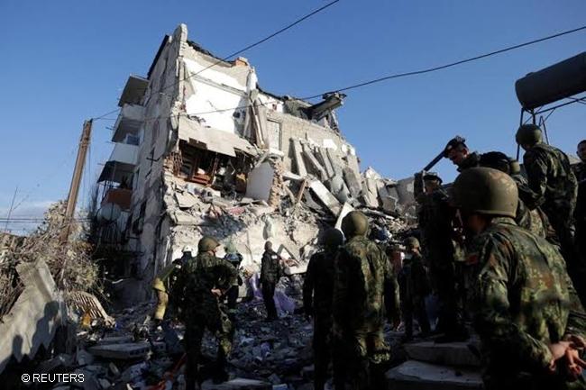 ALBANIA EARTHQUAKE LINDOL
