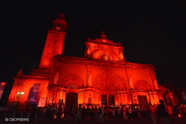 MANILA CATHEDRAL RED WEDNESDAY