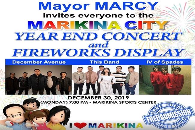 Marikina Year end concert
