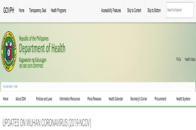 Wuhan-DOH-website