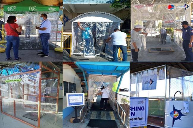 disinfection booth pantalan terminal PPA
