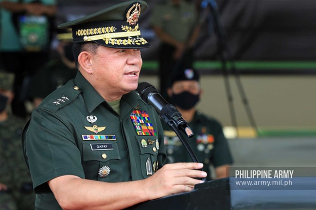 AFP Chief of Staff General Gilbert Gapay