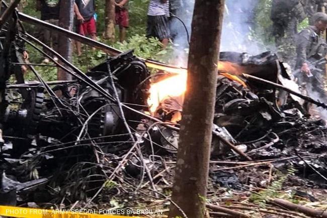 BASILAN PHILIPPINE AIRFORSE HELICOPTER CRASH