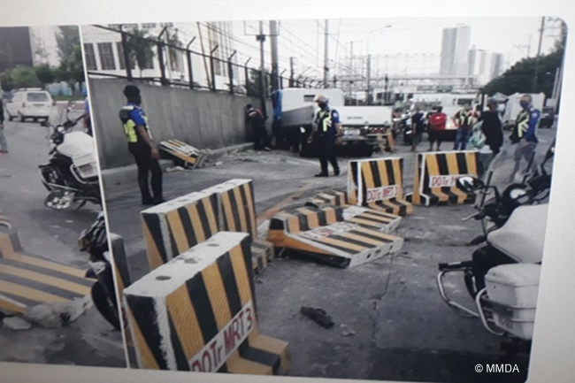 edsa santolan concrete barrier