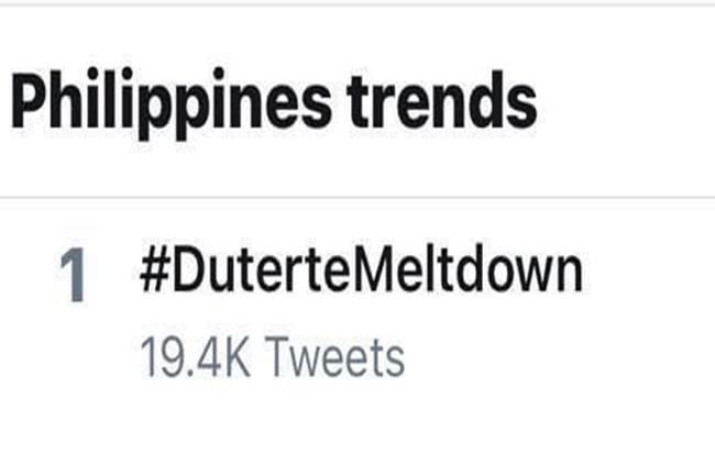 DUTERTE MELT DOWN TRENDING
