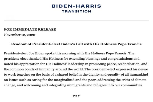 biden pope