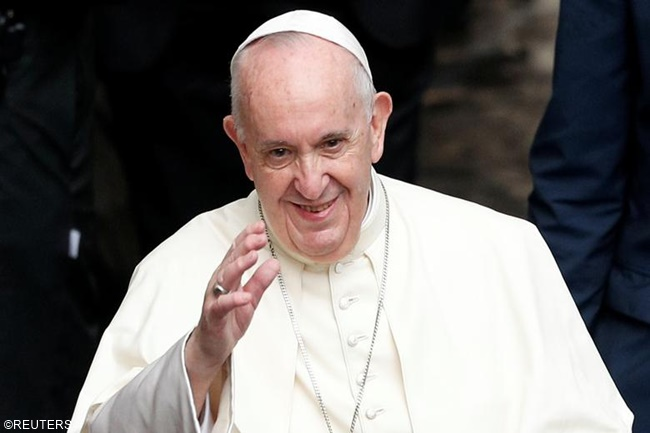 pope francis twitter