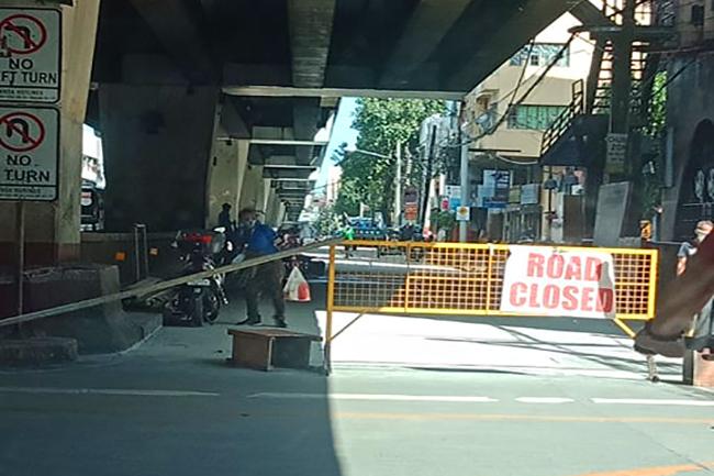 road close lockdown